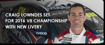 CRAIG LOWNDES SET FOR 2016 V8 CHAMPIONSHIP WITH NEW LIVERY
