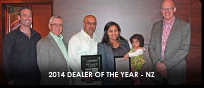 Dealer of the Year 2014 NZ