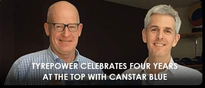 Tyrepower Celebrates Four Years at the Top with Canstar Blue