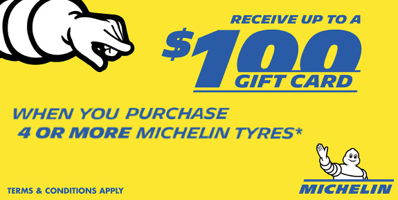 Michelin tyres Special at Tyrepower, link to specials page