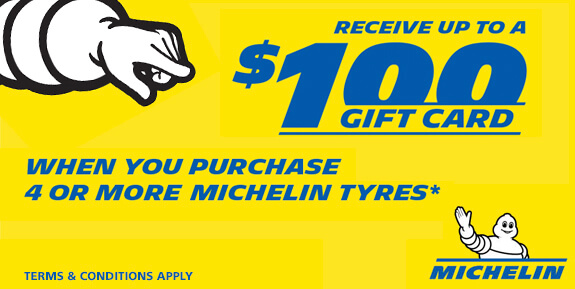 Receive up to a $100 gift card michelin special